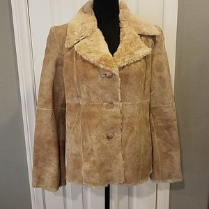 Guess leather coat Sz L